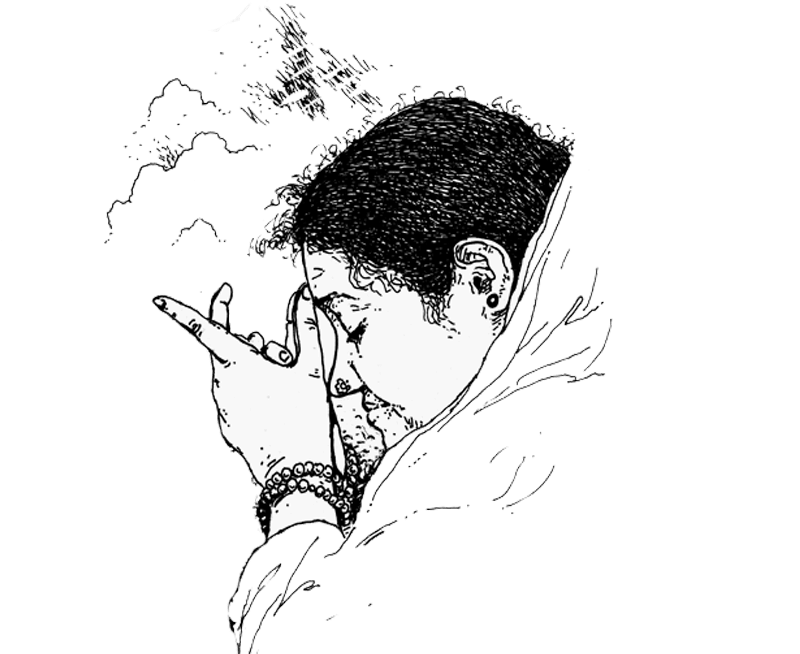 amma-mata amritanandamayi devi-drawing