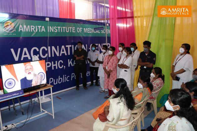 2021-01-16-COVID Vaccination-PPP-Amrita Hospital-Kochi